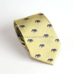 Baja MOQ hombres formal es 100% tejido de seda Corbata Corbata Animal para la boda