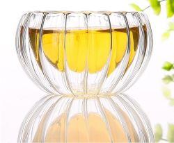 Comercio al por mayor gafas de Té Marroquí taza de té de vidrio de doble pared, se establece con el logotipo personalizado