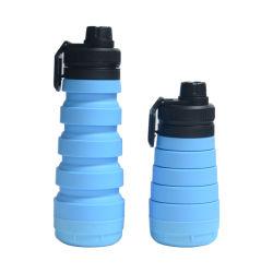 750ml Fles van het Water van de Fles van de Zak van de Opslag van het Water van het silicone de Vouwbare Opvouwbare