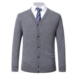 秋の毛皮のウールメンズセーターのコートのジャケットビジネスカーディガンのセーター