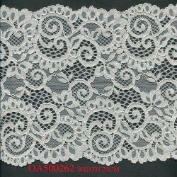 Tramo de la moda de encaje tejido Galloon brillante para la ropa interior lenceria elástico de encaje Tejido de nylon vestido de Dubai