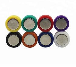 소형 D12X20mm 다채로운 자석 Thumbtacks 자석 제도용 핀