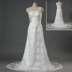 女性W176のための優雅な1着の肩のレースの花嫁の婚礼衣裳