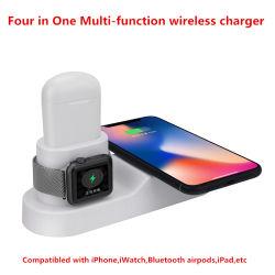 Quatre de haute qualité dans un tampon sans fil multifonctions chargeur pour téléphone mobile, Airpods Iwatch, Bluetooth, l'iPad