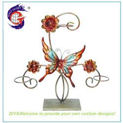 El chino en forma de mariposa de metal de la luz de Té Candelabro Design