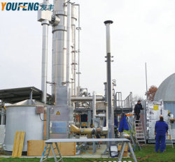 Biogas, das durch Aufnahme-Methode Pressureswing ausbaut