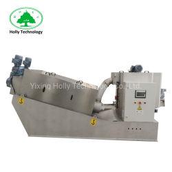 染料の廃水のための手回し締め機の沈積物の排水機械