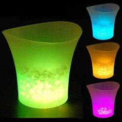 LED 조명이 있는 아이스버킷 색상 변화 음주용 와인 샴페인 버킷