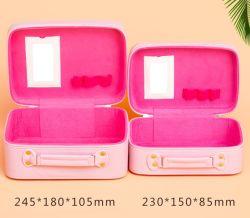 La capacidad de la Arge Lcustomized Cute Kitty Fancy caso cosméticos Bolsa de Viaje para niñas