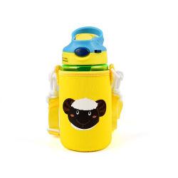 Оптовая торговля Китая Cute напечатано изолированный воды молоко крышку расширительного бачка для детей, детскую бутылочку из неопрена втулки охладителя с помощью планки