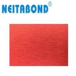 Roter Pinsel Acm zusammengesetztes Aluminiummaterial mit 3mm 4mm