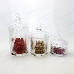 заводская цена очистить стекло за круглым столом конфеты Cookie кувшин блендера с крышкой пустого посуда