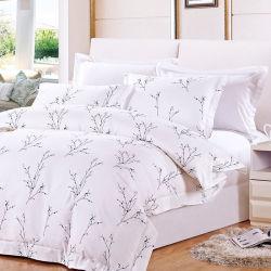 가정 직물 100%년 면 2인용 침대는 꽃 디자인 침구를 인쇄했다