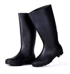 El negro precios baratos de moda las botas de lluvia de goma de seguridad
