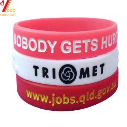 Logotipo Debossed personalizadas pulsera de silicona de colores