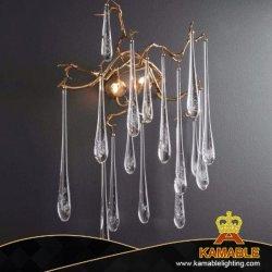 Het moderne Binnenlandse Decoratieve Licht van de Muur van het Hotel van de Daling van het Water van het Glas (KAW330)