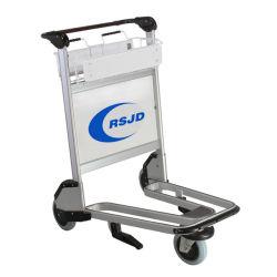 Carrello di alluminio del carrello dei bagagli di mano dell'aeroporto con il fornitore del fornitore delle rotelle
