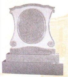 Lápida de granito gris de piedra natural Monument SF-003 para jardín Cremetery