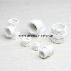 Rosca de PVC-U y los racores para tubo de suministro de agua, la norma BS