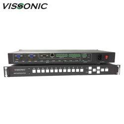 Vis-Psc1202 Professional Scaler Switcher met knop aan de voorzijde, RS232-poort en TCP/IP