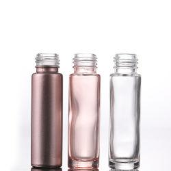 الجملة 10 مل زجاج اللف على زجاجة زجاج بيرفيوم الوردي زجاجة زيت أساسي مستخدمة