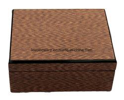 Acabado de alto brillo reloj de madera y Pen Box Set de regalo