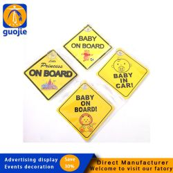 Bébé personnalisé signe voiture magnétique à aimant autocollant réfléchissant à bord d'imperméables Die Cut fenêtre de voiture de l'autocollant AUTOCOLLANT DE BOUCLIER