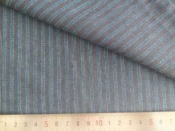 Rayures bleu/charbon de bois 125GSM 100% tissu teint Fils de coton