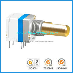 FM Radio Adjusting Dustproof Copper Shaft Rotary Potentiometer with Switch