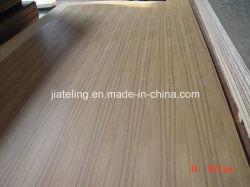 Folheado de madeira de teca naturais enfrentadas MDF