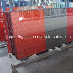 Serigraph Decorative Glass con Red Color