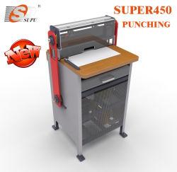 Nouveau professionnel 2dans 1 Papier à usage intensif de perforation et de la machine de liaison avec le fil du système de plus près et interchangeables Die (SUPER450)