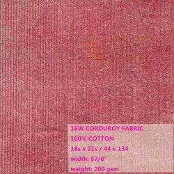 100% algodón 16 W, tejido de pana (ESDC10012)