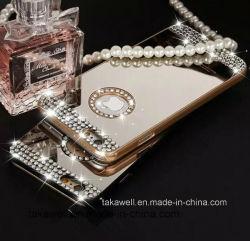 PCC Bumper Aluminum Back Cell Phone Caso di Fashion Mirror di alta qualità per il iPhone 6 Plus Mobile Caso