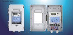 O DDS-103 Monofásica Contador eléctrico Caixa ordinário do bloco de terminais da Shell injetoras de plástico transparente de policarbonato Tampa Superior