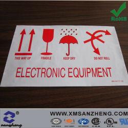 L'équipement électronique personnalisé coloré Avis collant PVC résistant aux produits chimiques des autocollants