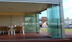 20 % Безрамные стек безрамные опускное стекло двери двери конструкции из алюминиевого сплава алюминия из закаленного стекла с остеклением Lowes