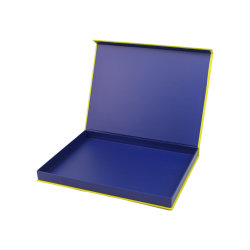 custom Magazin Company 회사 팜플렛 호화스러운 엄밀한 자석 마감 얇은 선물 종이상자