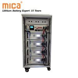 リチウムイオン電池、 20 kwh 15 kwh 10 kwh ソーラーエネルギー貯蔵キャビネット インバータ 48V 100ah 5u LiFePO4 バッテリパック搭載