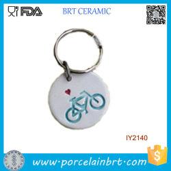 Ornamento di ceramica semplice adorabile della catena chiave