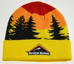 100% acrílico tejido Beanie Hat personalizados sombreros tejidos de alta calidad