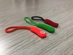 Océano de crédito de goma PVC personalizadas Pestaña Zip