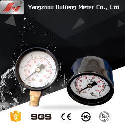 Todos os gases de Aço Inoxidável Manômetro de fluido para o compressor, Medidor de Pressão de Ar