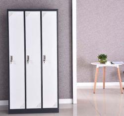 現代3つのドアのロッカーコンパートメントロッカーの収納キャビネット