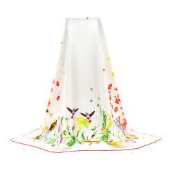 Impreso personalizado bufandas de seda seda Sarga Bufanda de Plaza de dama
