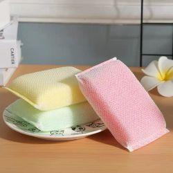 Chiffon puissant Scourer de tampons à récurer éponge de nettoyage avec forfait biodégradable
