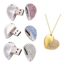 [بروموأيشنل&160]; مجوهرات [أوسب] [16غب] 100% [فولّ كبستي] قلب يشكّل معدن [أوسب] برق إدارة وحدة دفع