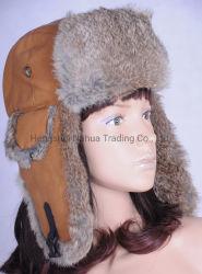 실제적인 가죽을%s 가진 겨울 온난한 모자