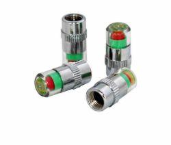 4pcs/establece las tapas de válvulas de alerta del neumático con plástico Core núcleo de cobre