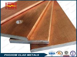 Aluminium plaat met koperen bekleding voor geleidende rails of met koper bekleed Staal